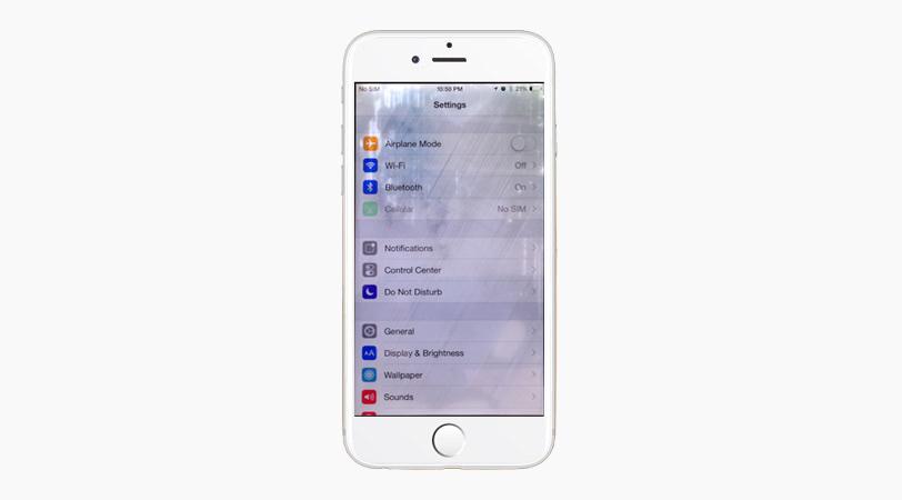 Пятна от воды на экране iPhone
